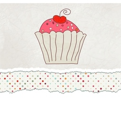 Retro Cupcake Card vector