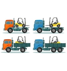 Road trucks vector