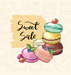 Sale background with colored hand drawn vector