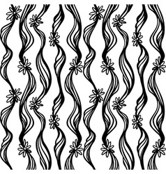 Seamless hand drawn abstract pattern Doodle sketch vector image