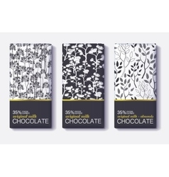 Set Of Chocolate Bar Black White and Gold vector
