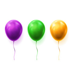 set of isolated 3d balloons for party or birthday vector image