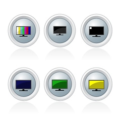 Set of televison banner and button vector image