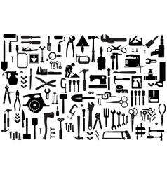 Set retro building tools vector