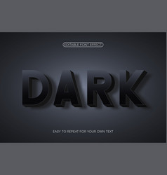 text effect bold 3d sans-serif with shadow vector image