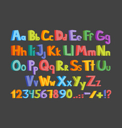 The colorful alphabet vector