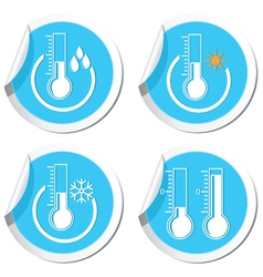 Thermometers icon set vector