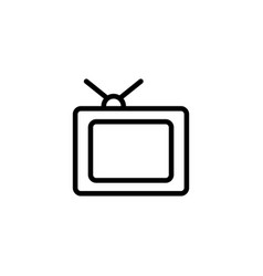 Thin line old tv icon vector