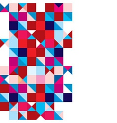 Triangle abstract tricolour vector image