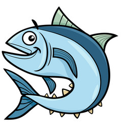Tuna fish cartoon character vector
