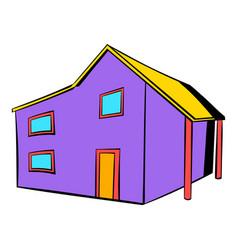 Two-storey house icon icon cartoon vector