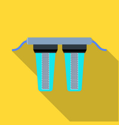 Water filters icon in flate style isolated on vector