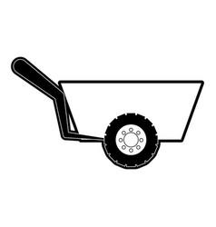 Wheelbarrow vector