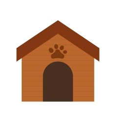 wooden house dog paw print pet vector image