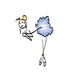 doodle stickman concept beauty vector image