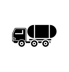 fuel truck icon black sign vector image vector image