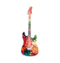 Abstract guitarist color vector image
