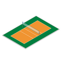 field for playing volleyball in isometric vector image vector image