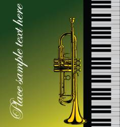piano with trumpet vector image