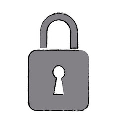 security protection information lock technology vector image