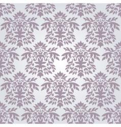 silver damask wallpaper vector image