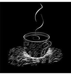 a cup of coffee vector image vector image