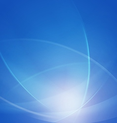 abstract blue smooth twist light lines waves vector image