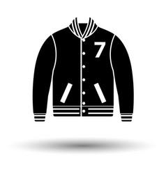 baseball jacket icon vector image