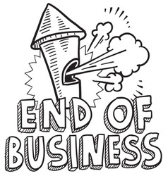 End of business vector image vector image