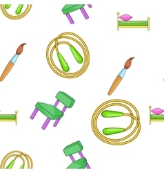 School elements pattern cartoon style vector