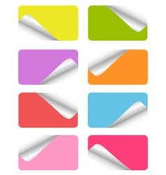 set of blank stickers vector image vector image