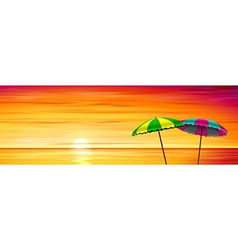 Two Parasols vector image