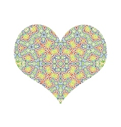 abstract color pattern heart vector image