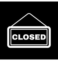 The closed icon Locked symbol Flat vector image