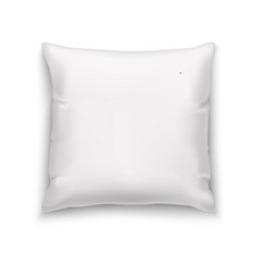 white pillow blank mock up vector image