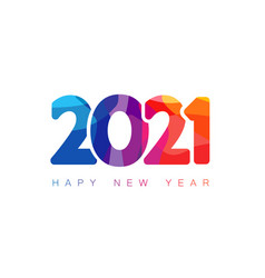 2021 colorful facet numbers vector image