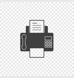 a minimalistic fax icon with a handset on vector image