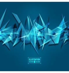 Abstract background of fragments vector