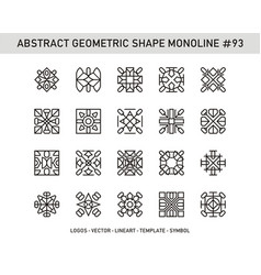 Abstract geometric shape monoline 93 vector
