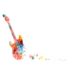 Abstract guitarist color vector