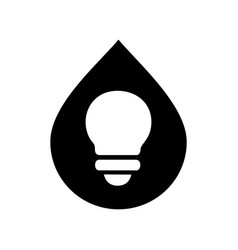 Abstract lamp icon design water drop vector