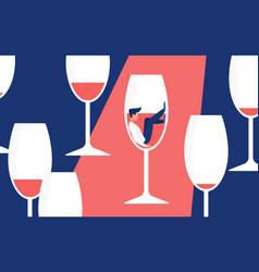 Alcohol addiction concept man addict drinker vector
