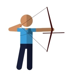 archery player aiming bow game vector image