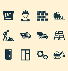 Architecture icons set collection of paint bucket vector