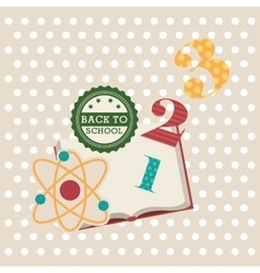 back to school with supplies vector image