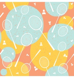 Badminton vintage seamless pattern vector image
