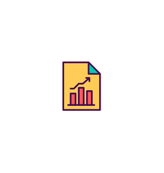 bar chart icon design marketing icon design vector image