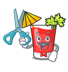 Barber bloody mary character cartoon vector