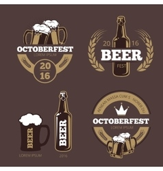 Beer label templates for beer house brewing vector