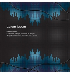 Black and blue volume background vector image